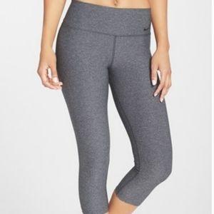 Nike Hi Rise Grey Capri Length Athletic Leggings